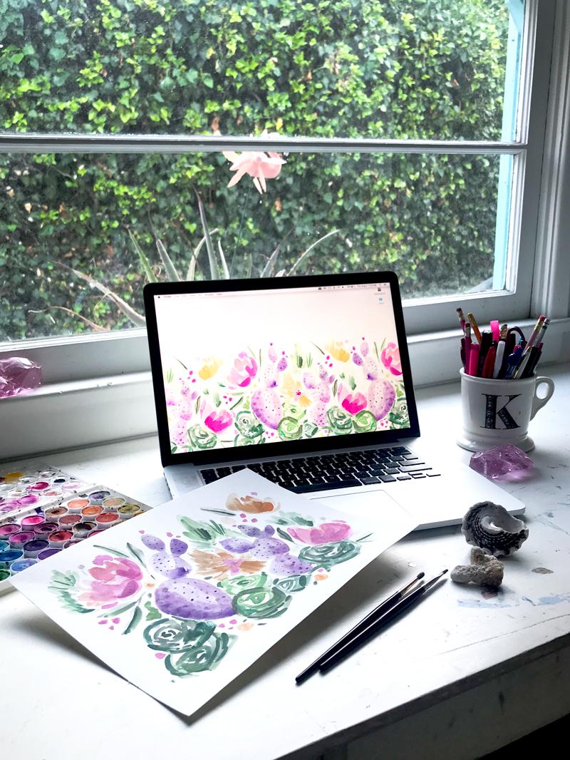 Ladyfolk Studio Laguna Beach, CA watercolor art and workshops