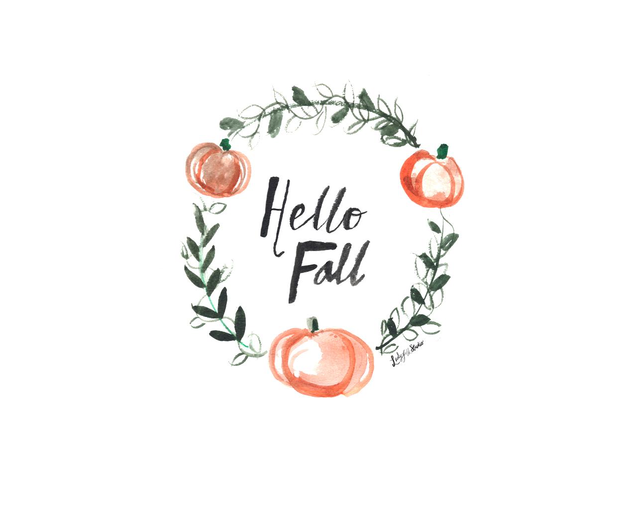 Fall Desktop Background Ladyfolk Studio