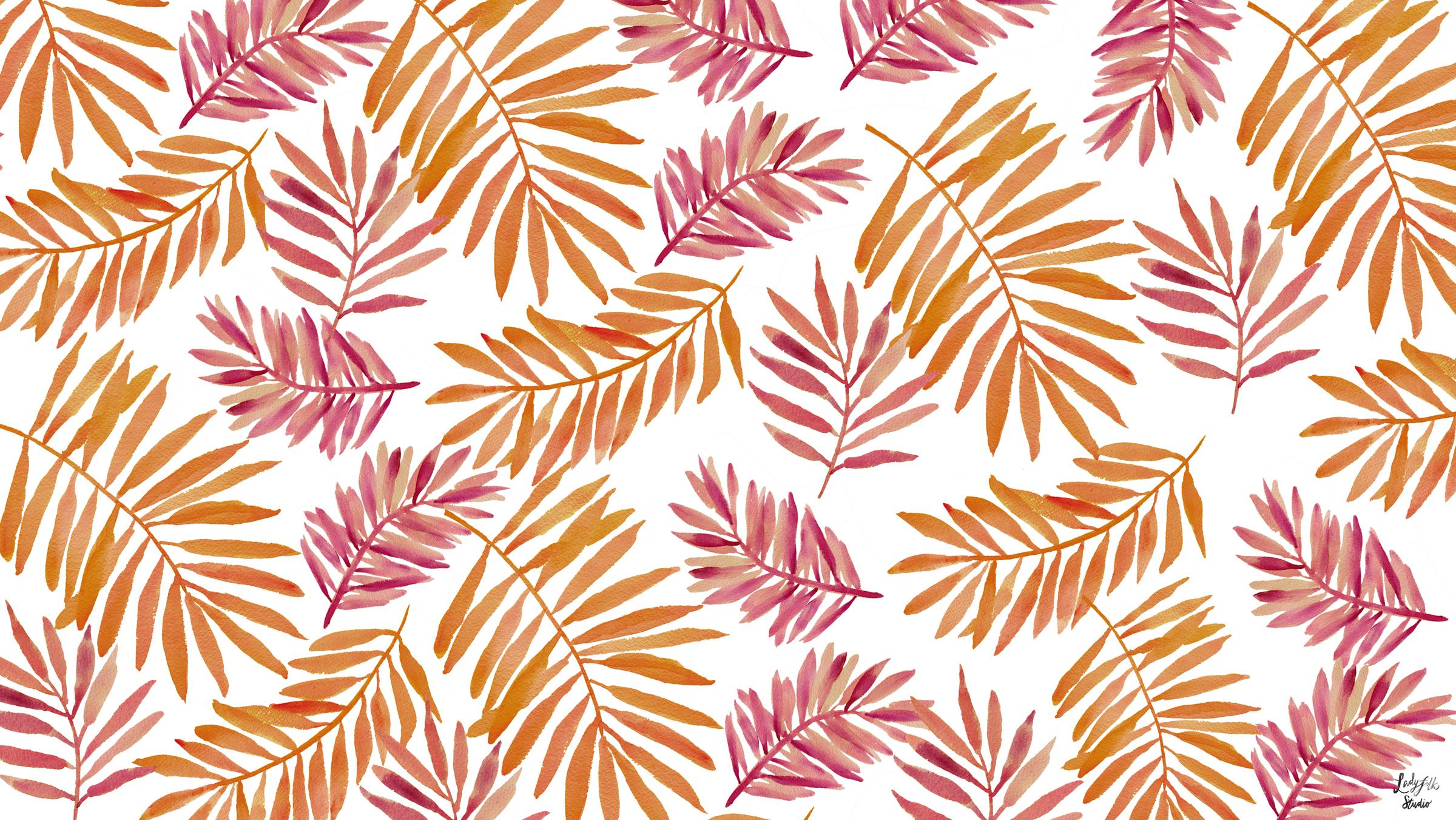 Hello Fall: New watercolor desktop art to inspire you from Laadyfolk Studio!