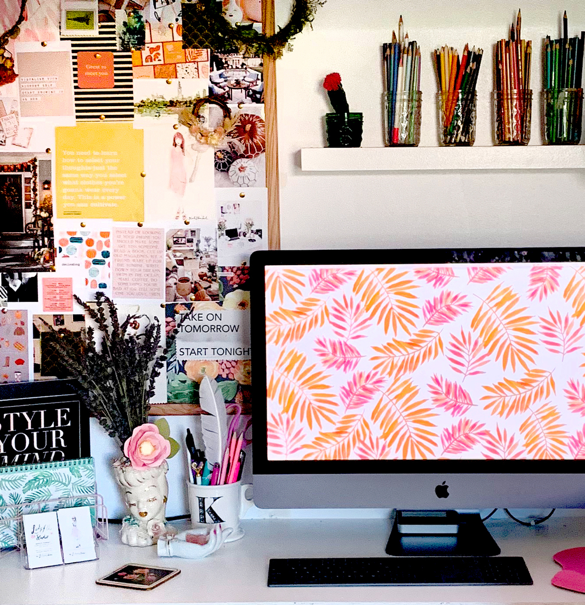 Hello Fall: New watercolor desktop art to inspire you from Ladyfolk Studio!