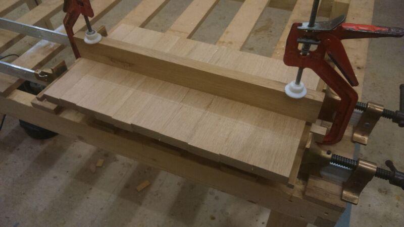 Using a batten to ensure flatness