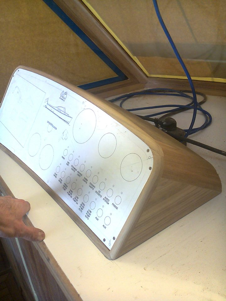 Instrument panel box. This was fun to make.