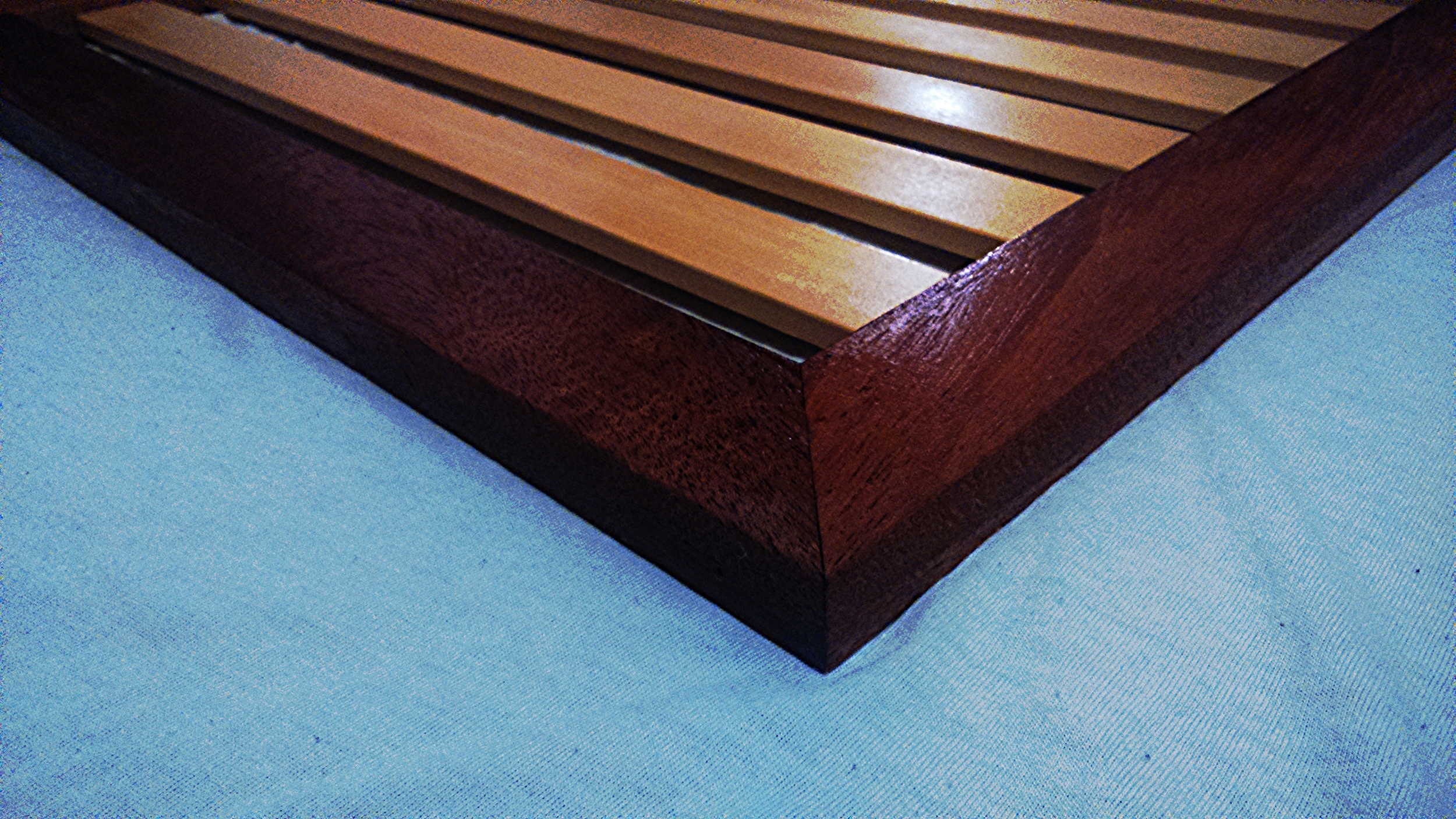 Seat base for launch, mahogany and yellow cedar