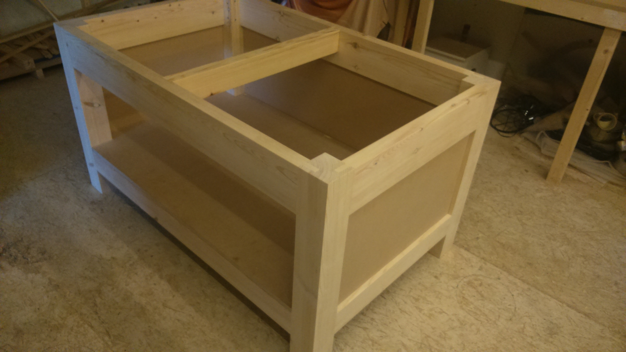 Workbench for a fudge shop, to have a marble top