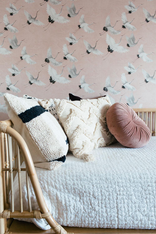 organic modern girl nursery design by Boston based designer mStarr design