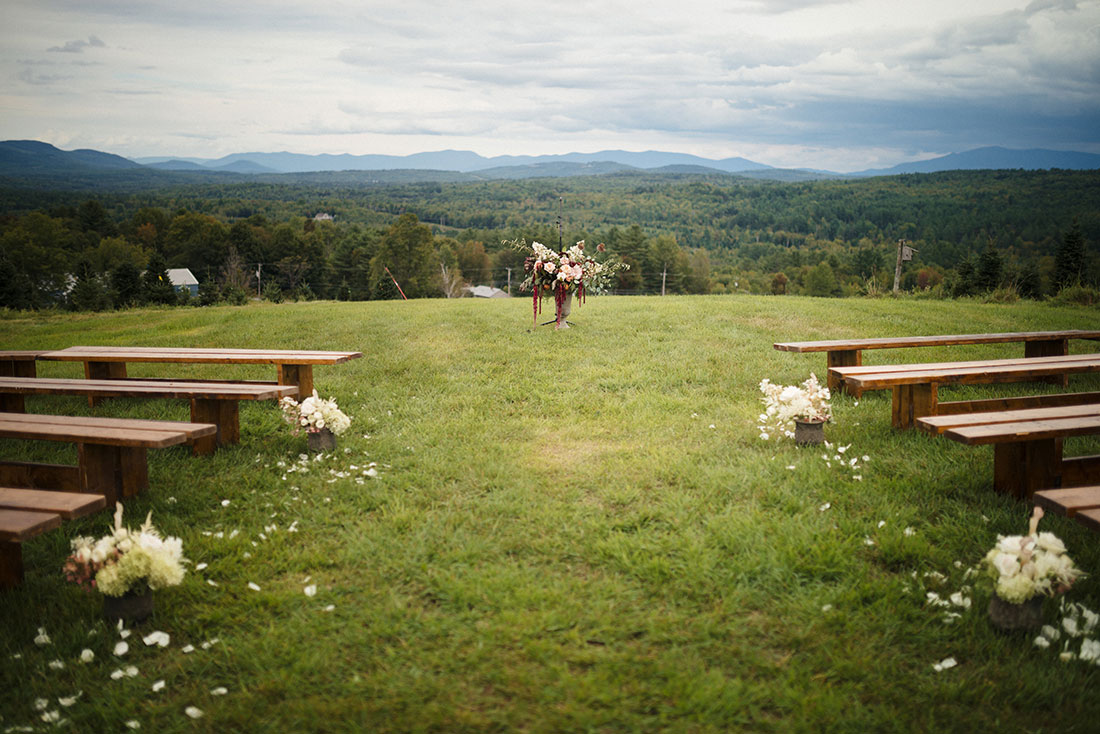 NEW HAMPSHIRE TREE FARM WEDDING by Boston based designer mStarr design