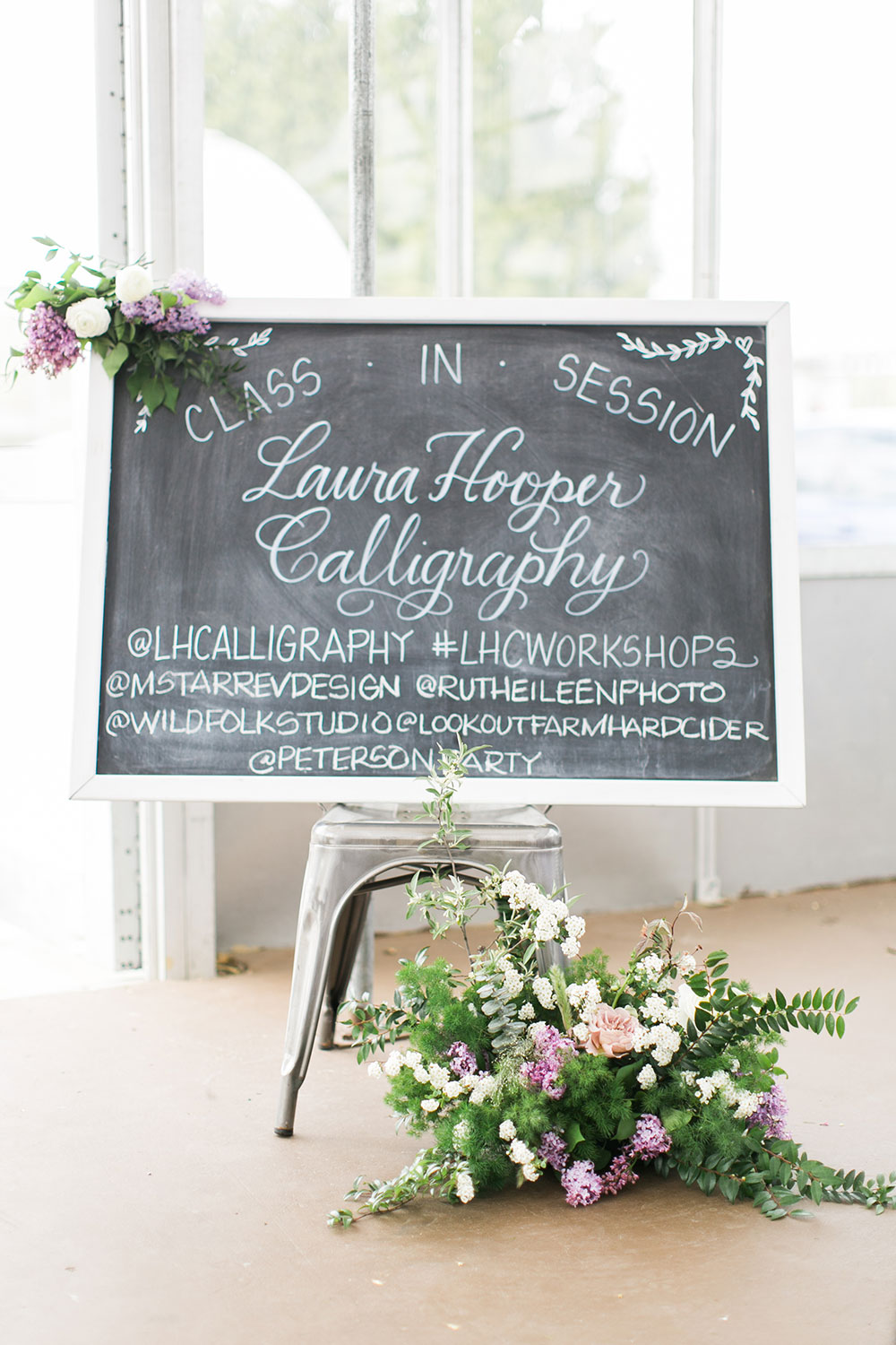 calligraphy workshop by Boston based designer mStarr design