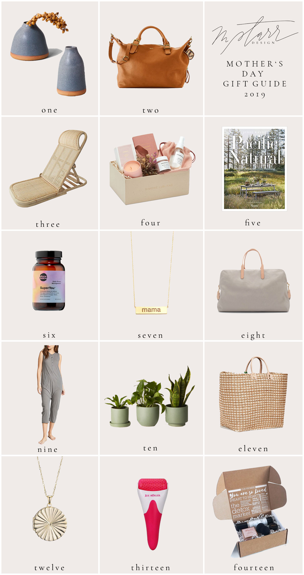 mStarr design mother's day 2019 gift guide