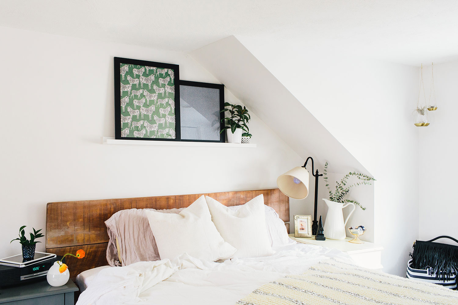 #farmhousedialfano master bedroom / circa early 2015 on design*sponge / photo by  joyelle west
