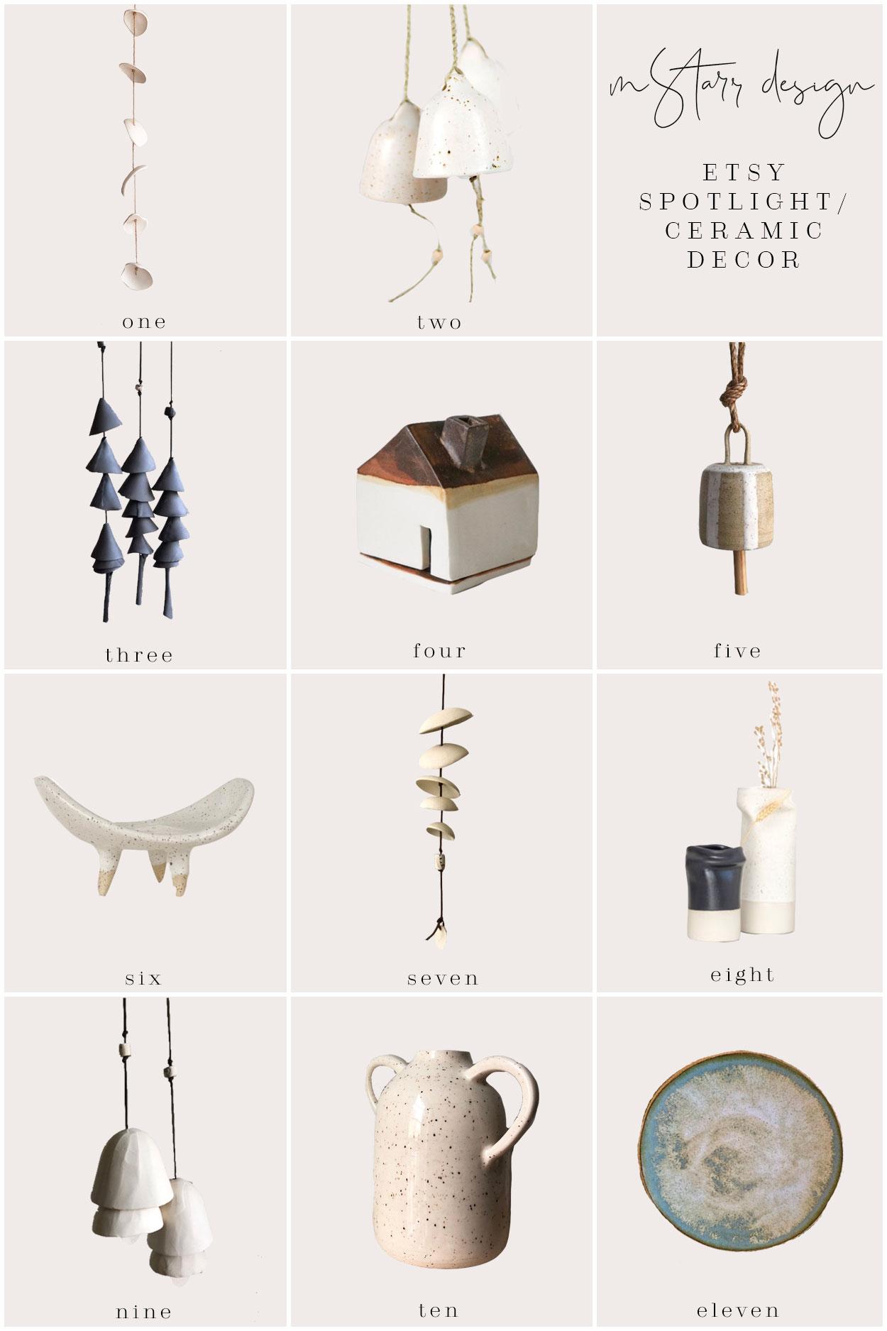 mStarr design / etsy spotlight / ceramic decor