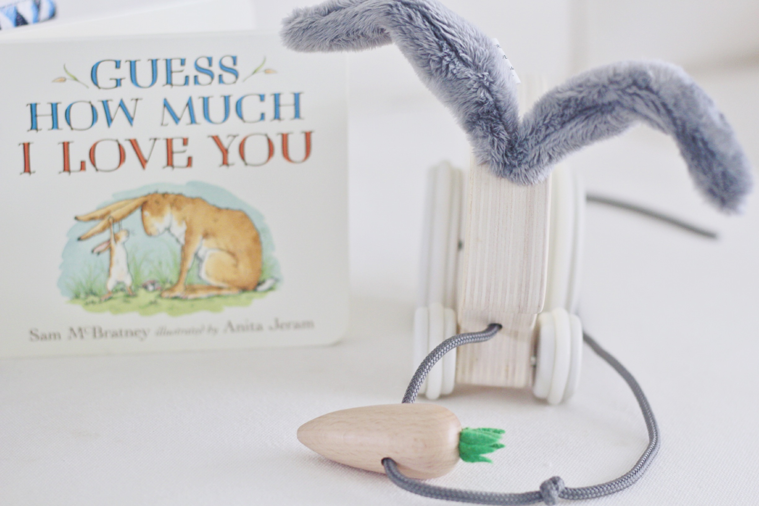 this book is a bedtime favorite, and this pull toy will be in good use in a few weeks when she is walking!