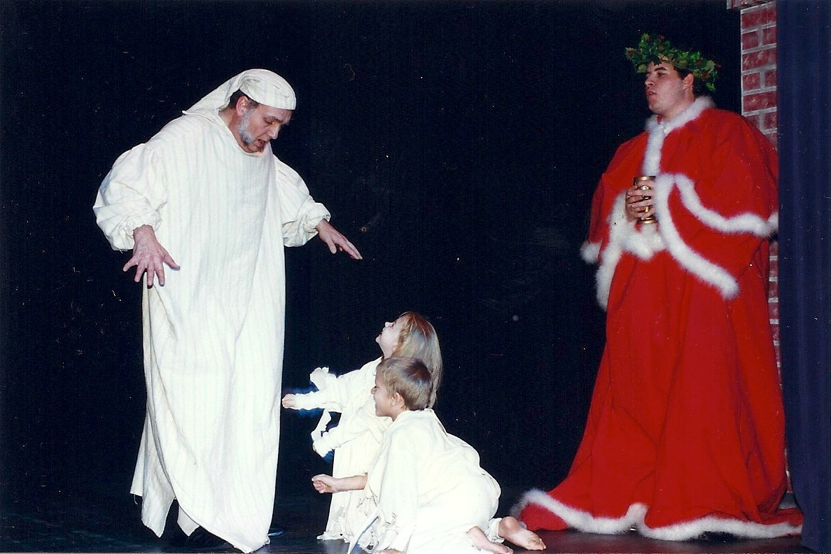 Scrooge and ghost of Christmas present.jpg