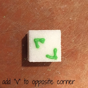 "then add another ""V"" in the opposite corner"