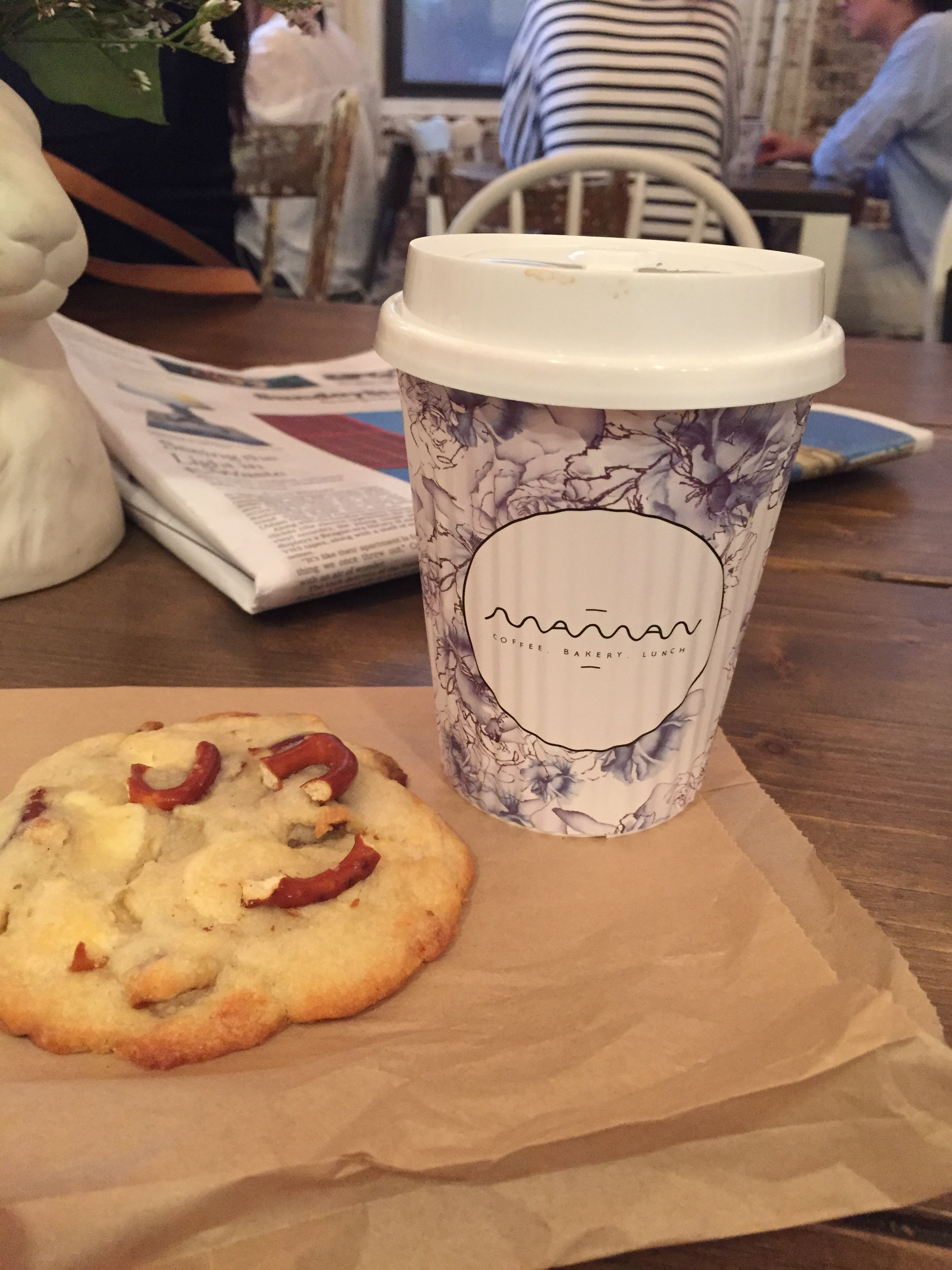 This pretzel and white chocolate cookie from  Maman  in SoHo was one of the best cookies I've ever had. The entire store was so cute, I felt like I was in a tiny shop in the french countryside.