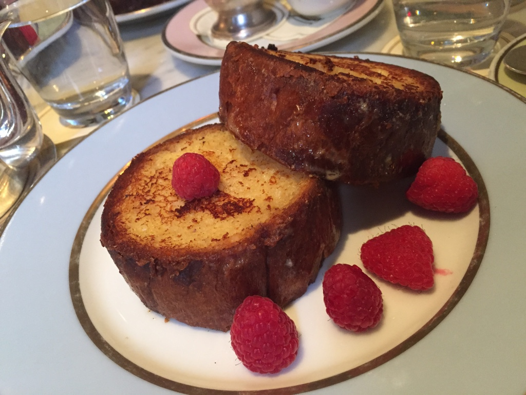 Raspberry brioche french toast from Laduree in SoHo.
