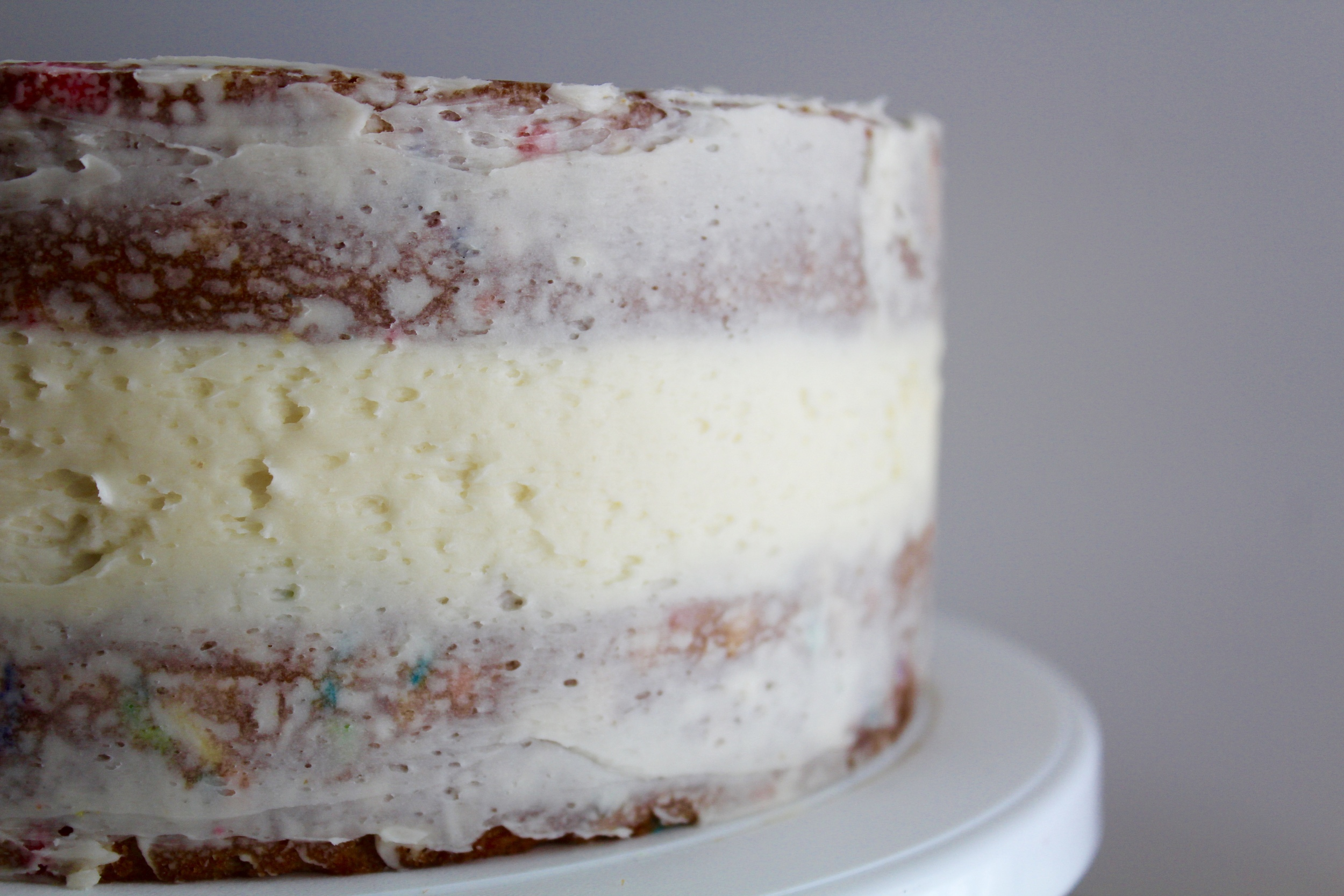 If you're not a fan of frosting you can leave it like this for a rustic, less sweet cake!