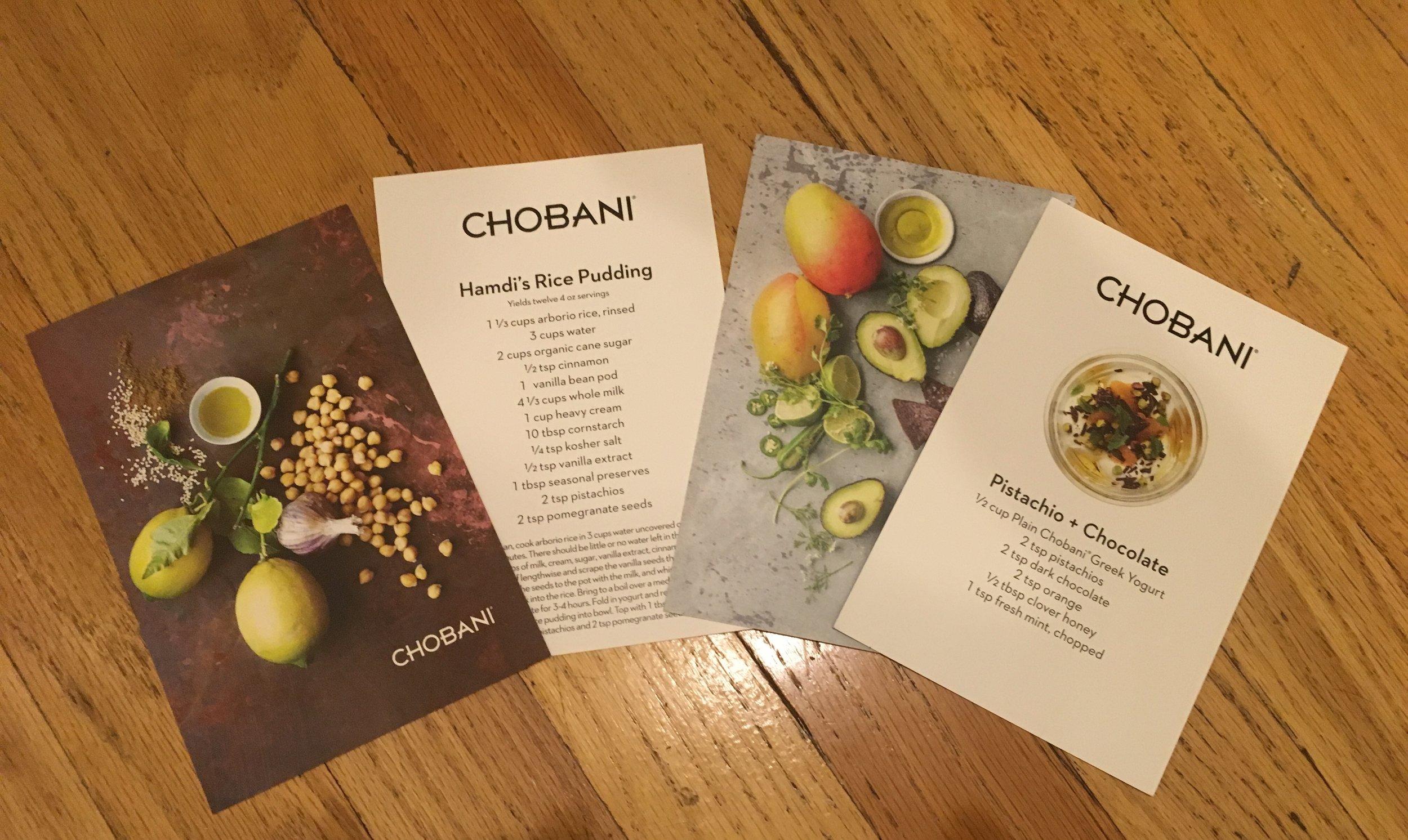 Beautifully designed recipe cards