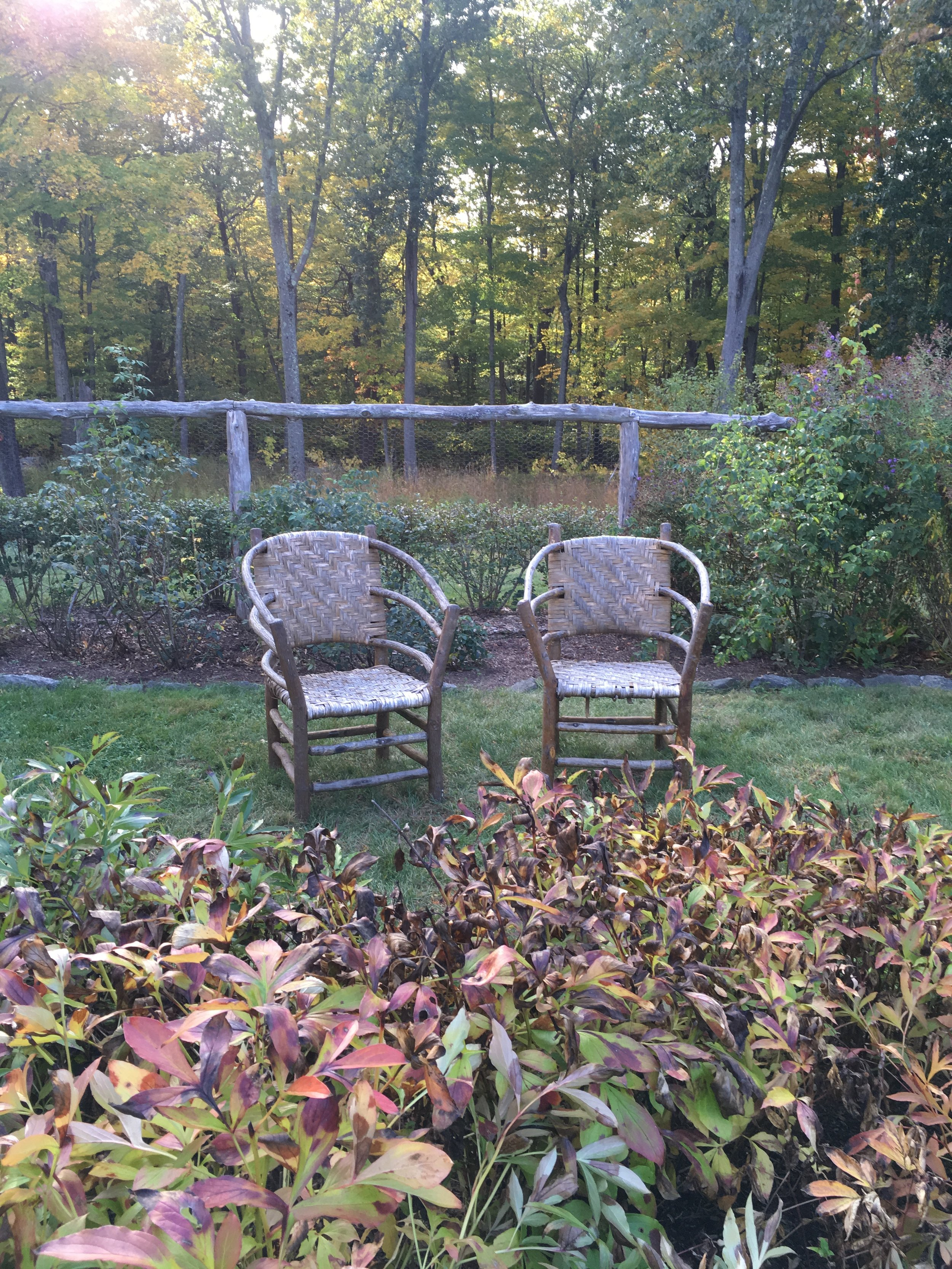 Seating for Two in Secret Garden