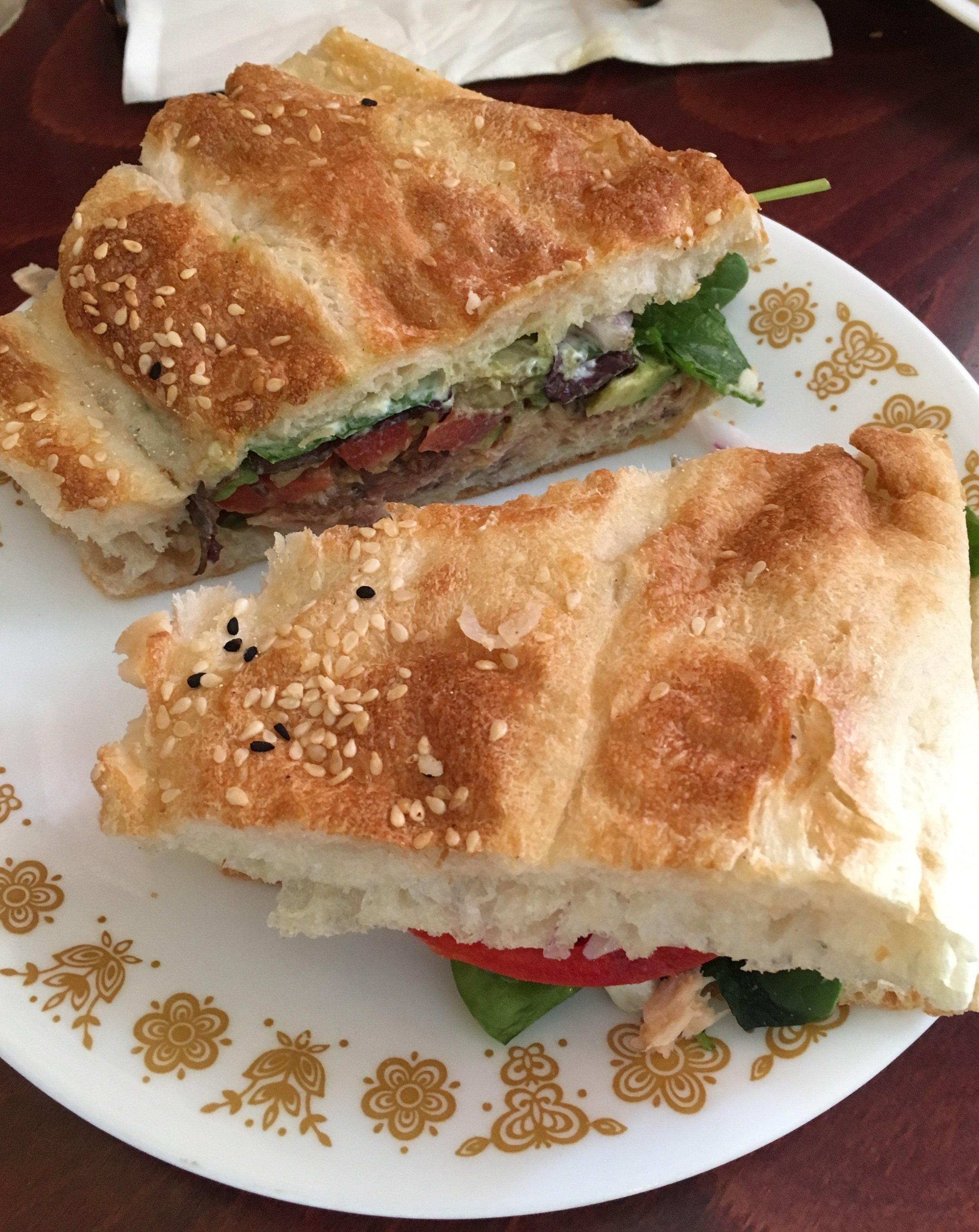 Omega-3 sardine sandwich @ The Big Cheese