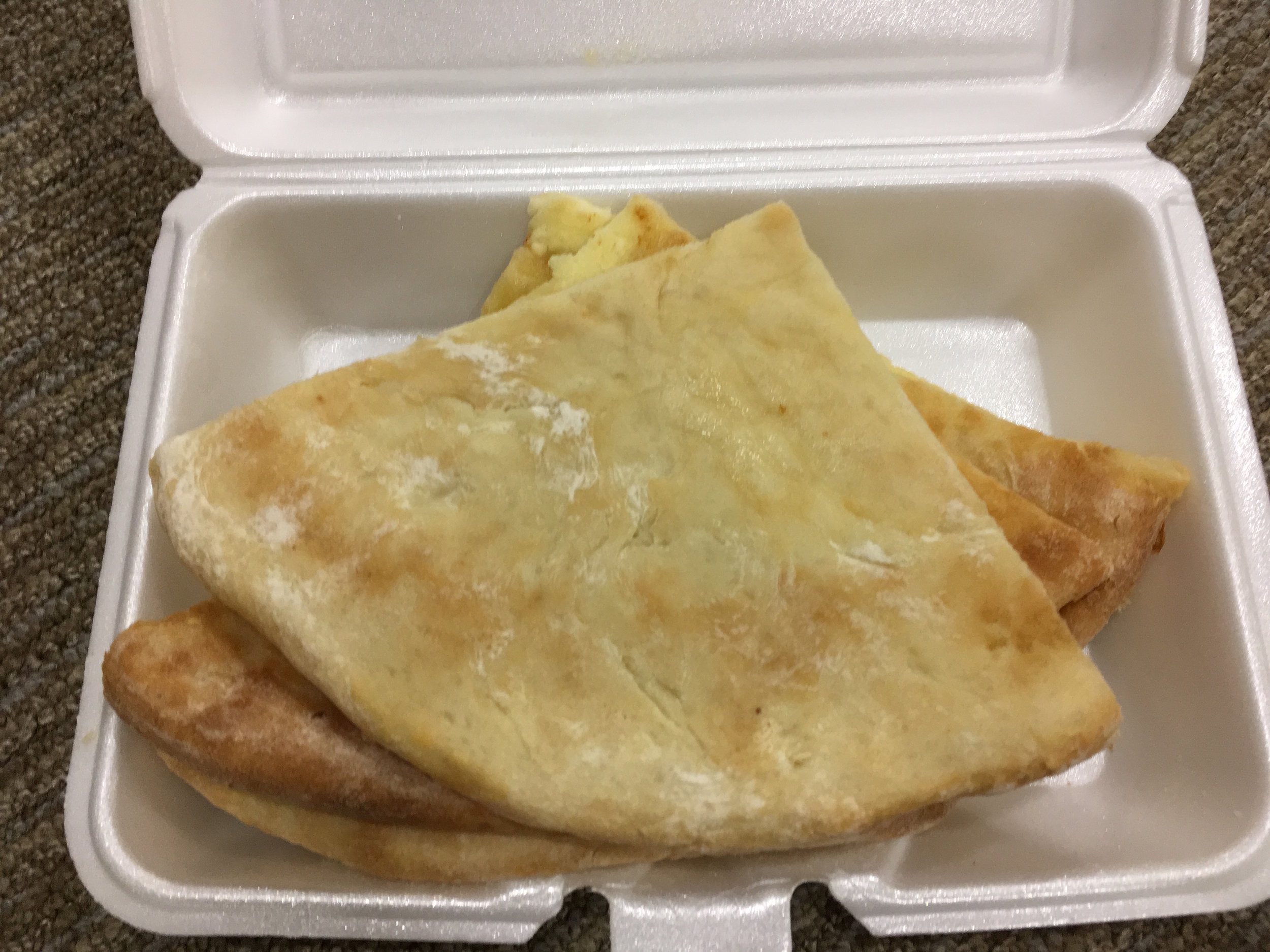 khachapuri to go (eaten in clinic!)