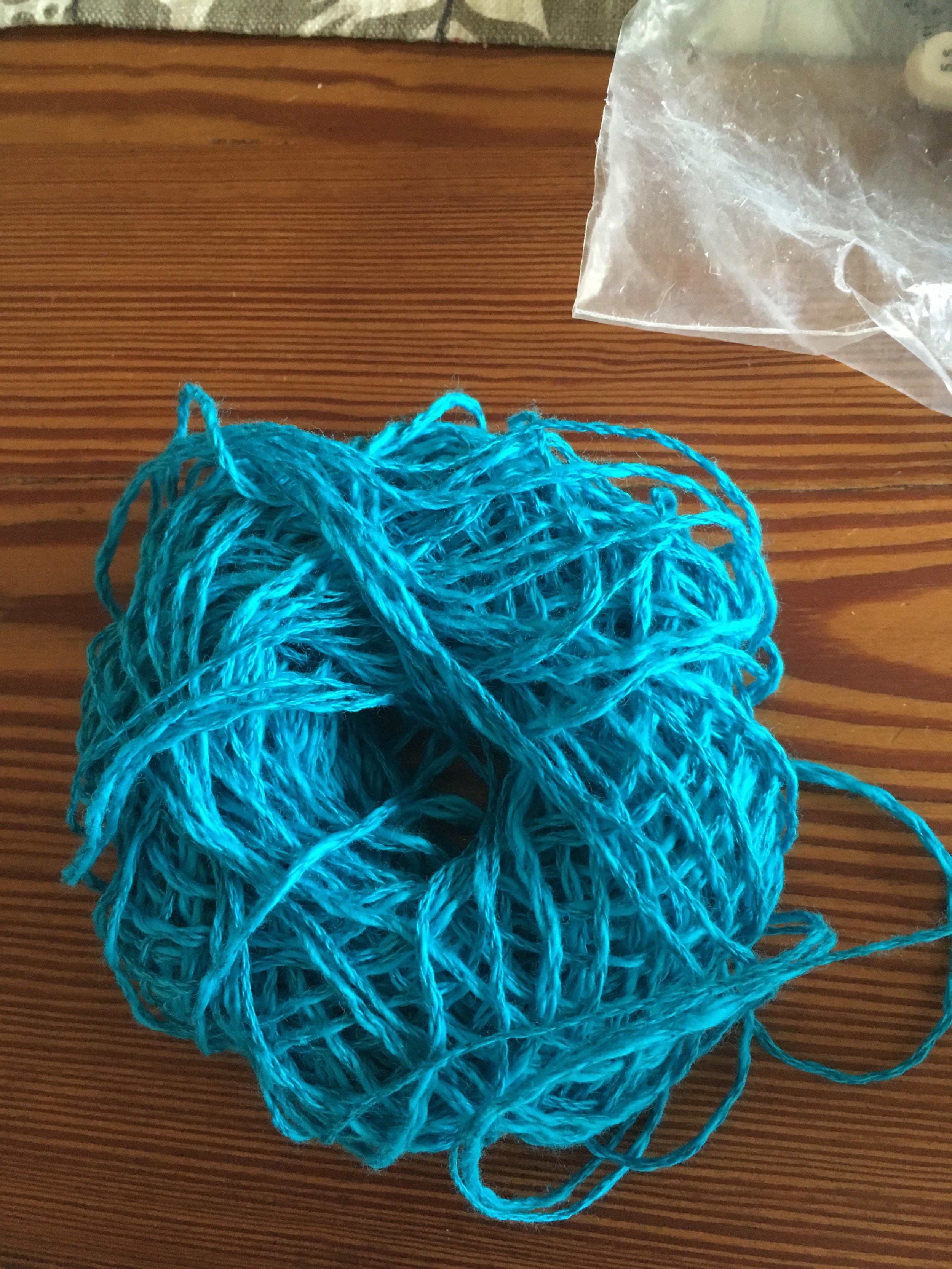 Following dwindling yarn for my respite...