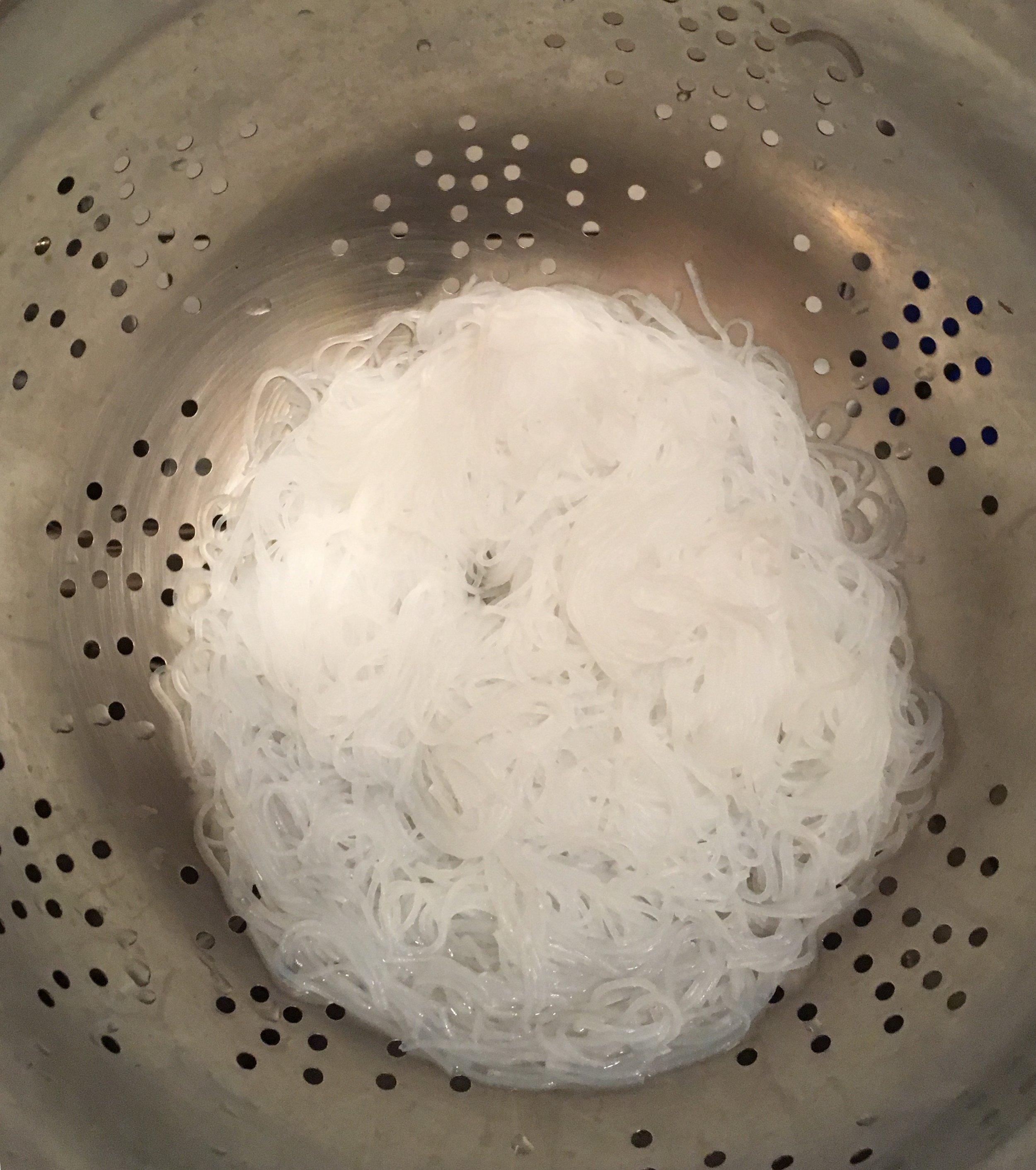 Boil noodles for 5 minutes