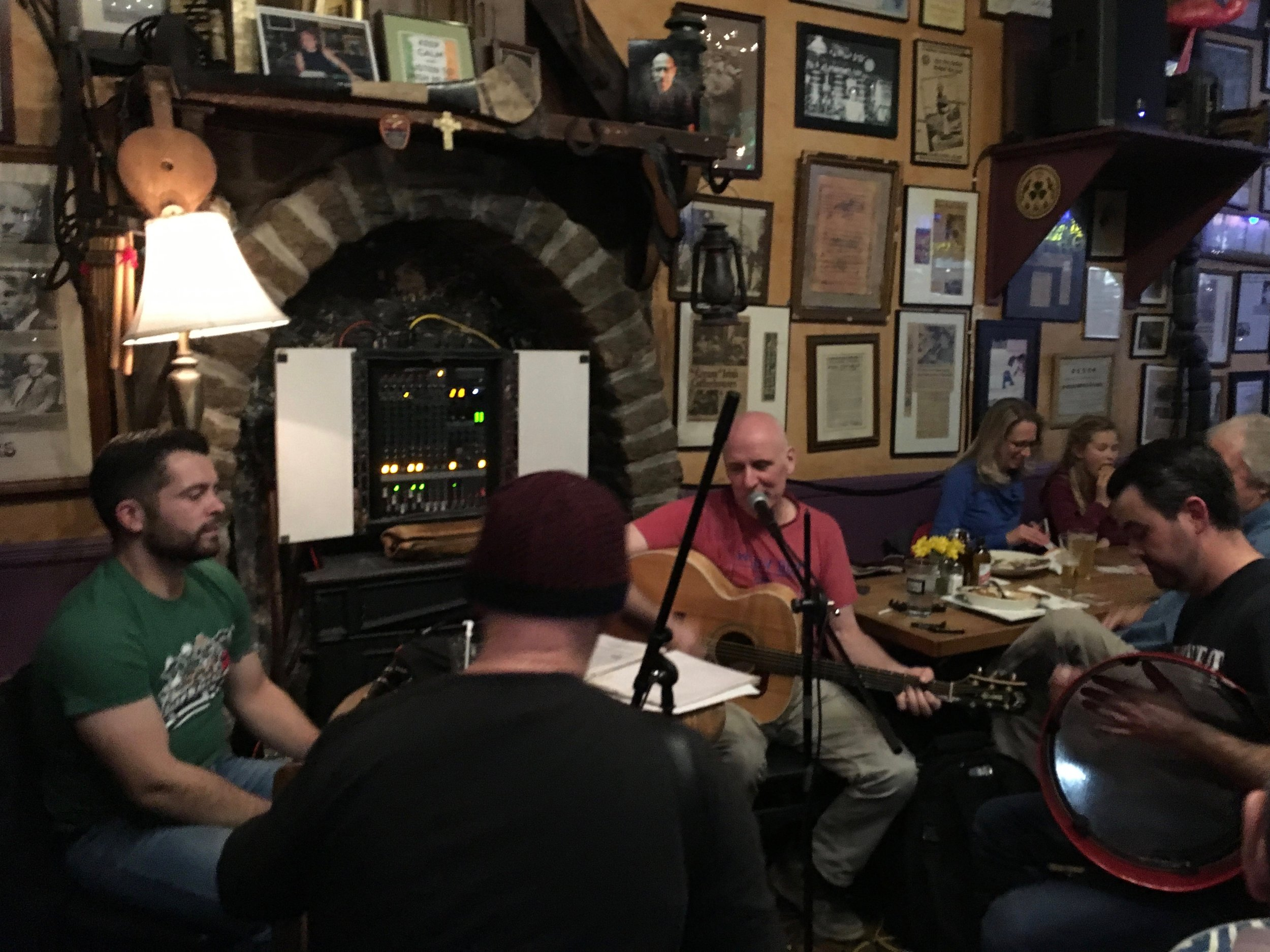Trad Irish music on Sundays