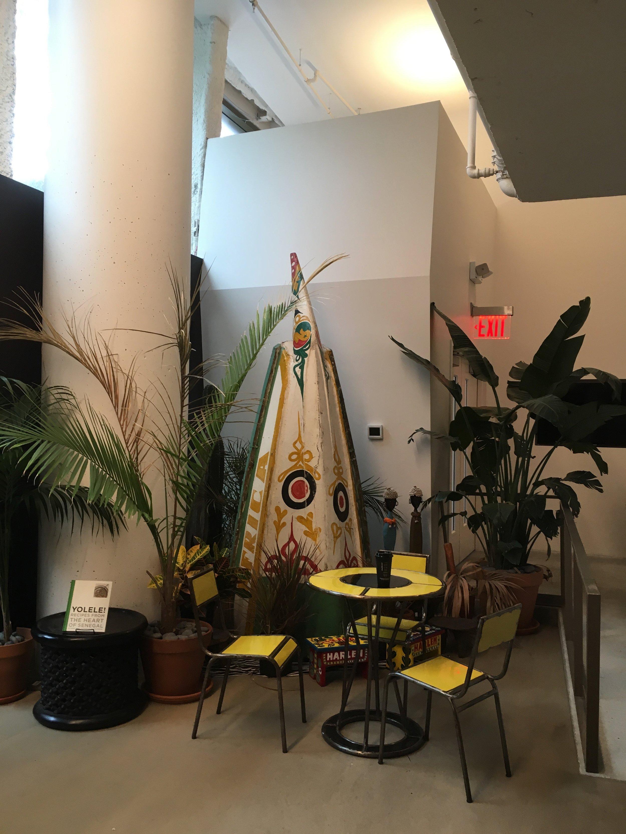 Imaginative seating and lush flora
