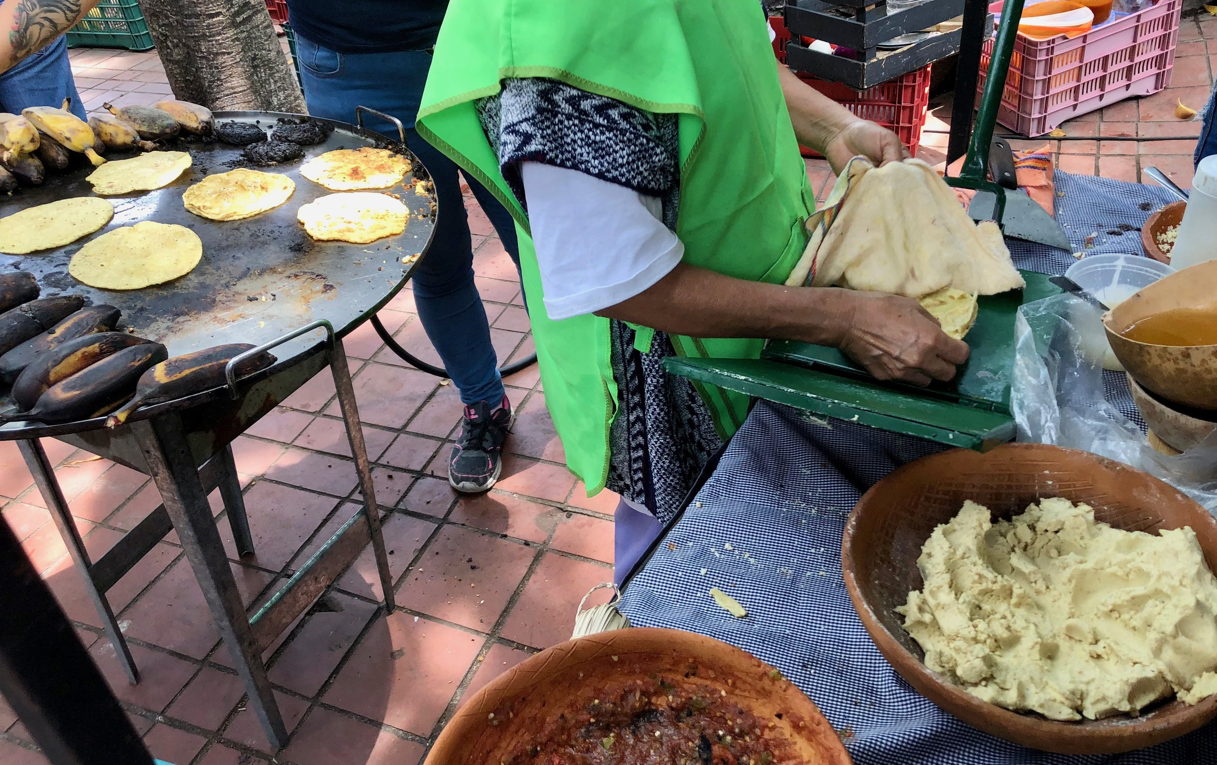Making tamales in Mexico City