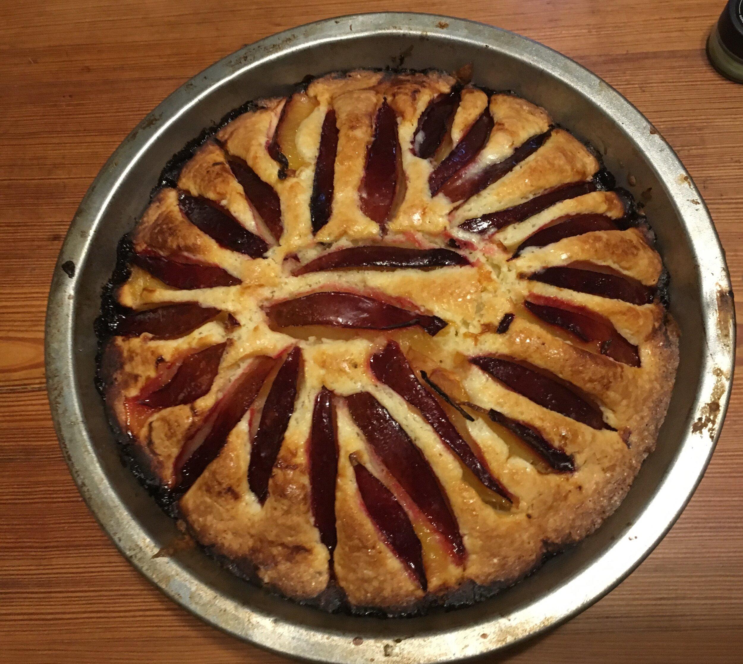 Marian Burros plum torte, a new way!