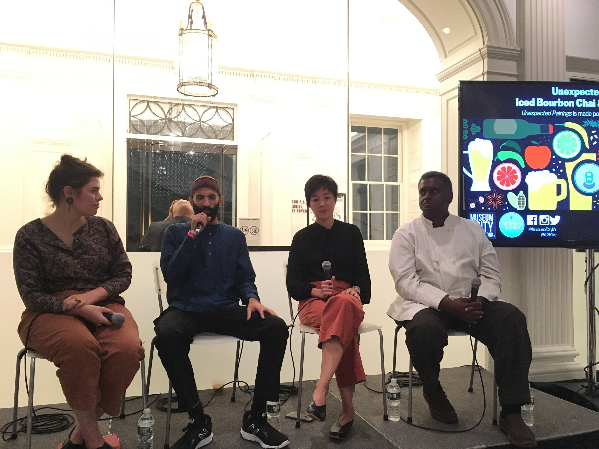 Panel discussion with Roots Chai and Harlem Pie man