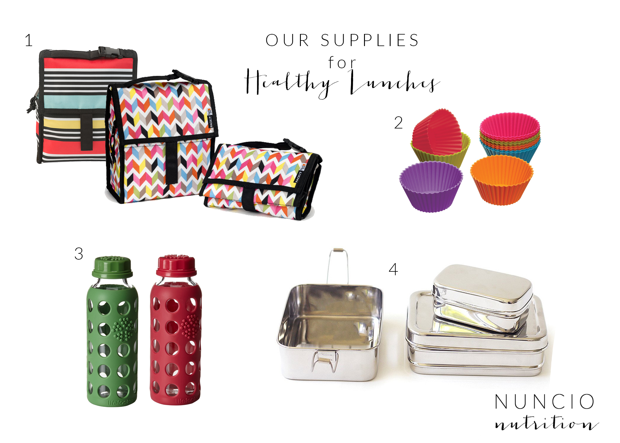 Nuncio Nutrition - Our Supplies for Healthy Lunches