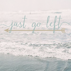 just go left logo