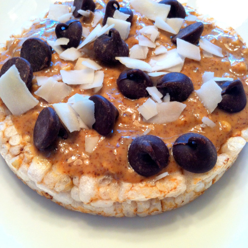 almond butter rice cake