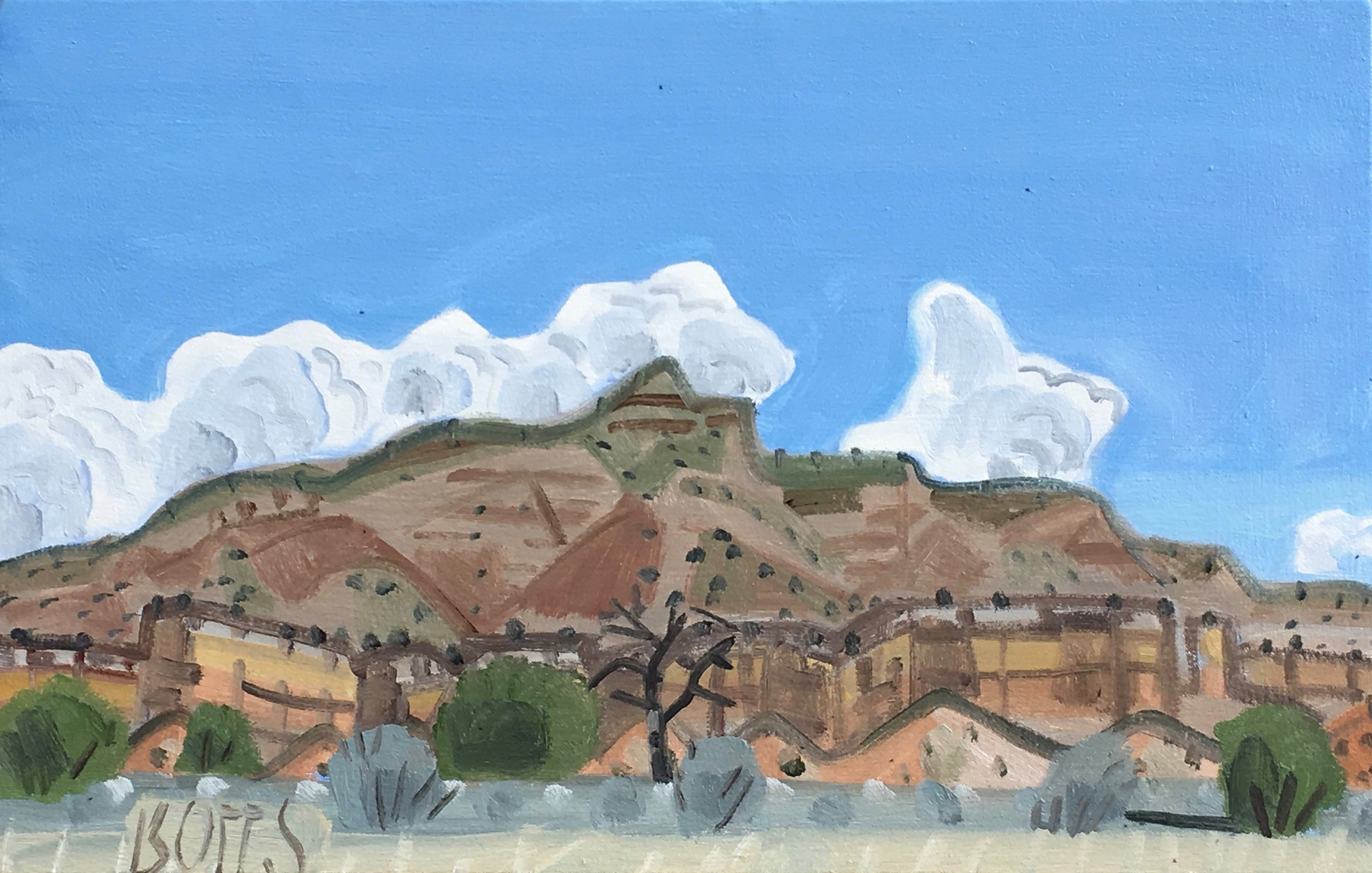 "Ghost Ranch from Monastery Road, 16 x 24"", oil on canvas, 2017"