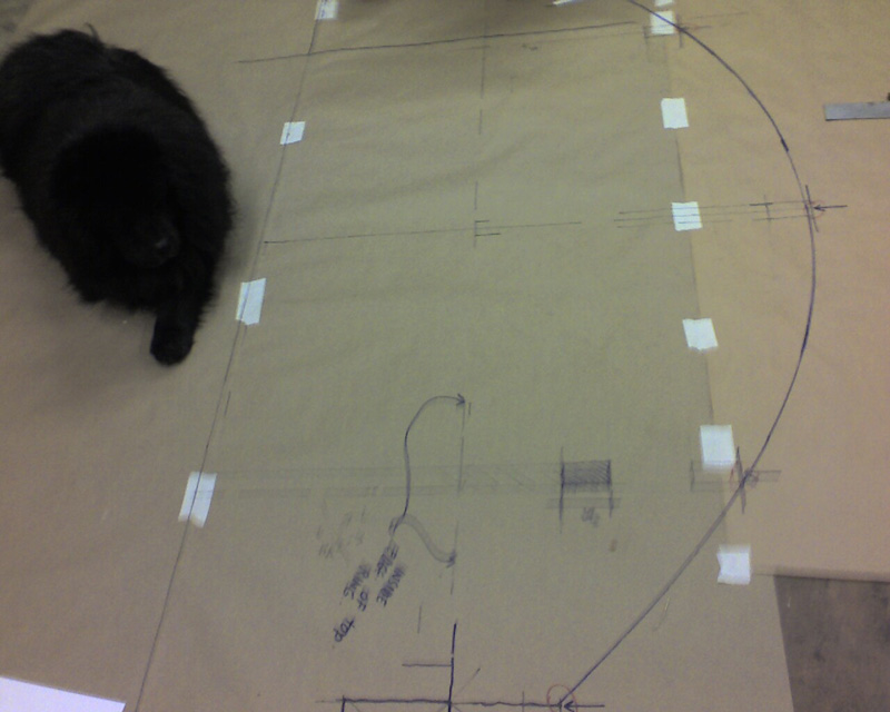 Drawing out the blueprint.