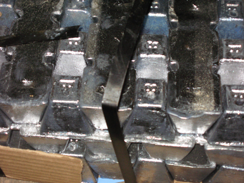 Then we started loading the ballast.2500 lbs of lead…