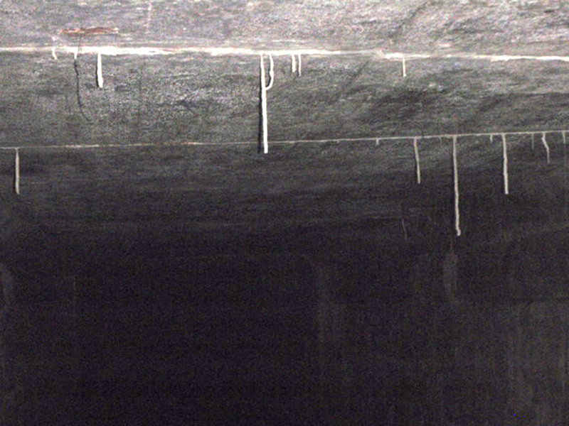 Stalactites appeared above…