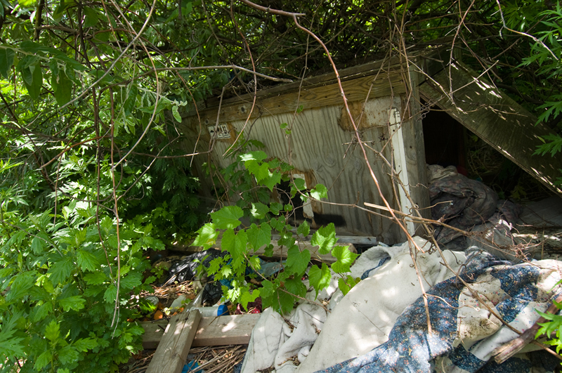 71 years later, people are reclaiming the area as a shanty town.