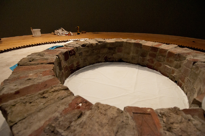 I modeled the lubber of the compass after a brick sewer tunnel or well…