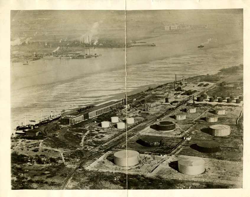 Aerial View of Tanks on Petty's Island