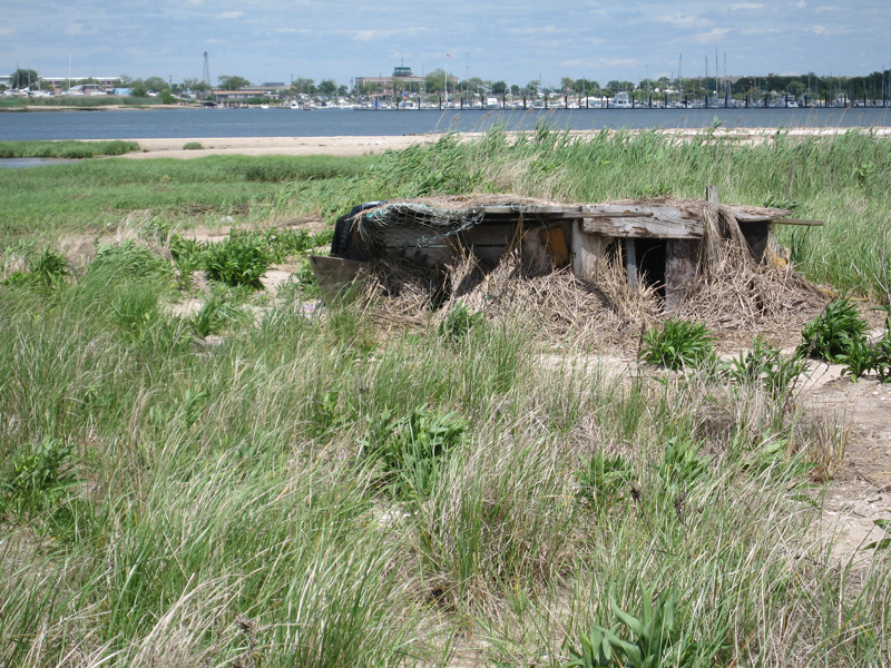 Some homeless people have used these remains to build shelters.