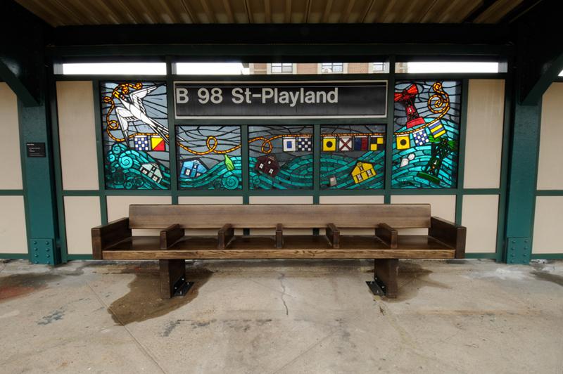Beach 98th Street Playland MTA Station