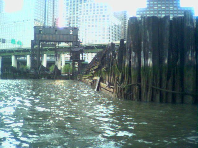 Abandoned ferry pier at 69th Street