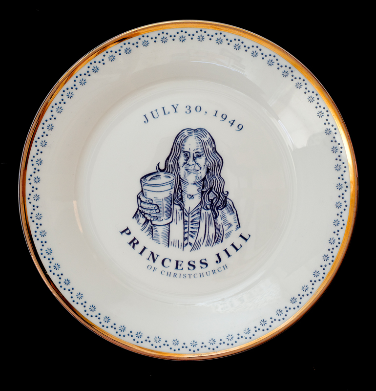 Princess Jill of Christchurch, Laird Royal Family Commemorative Plate Series, 2010.