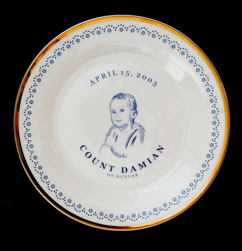 Count Damian of Denver, Laird Royal Family Commemorative Plate  Series, 2010.