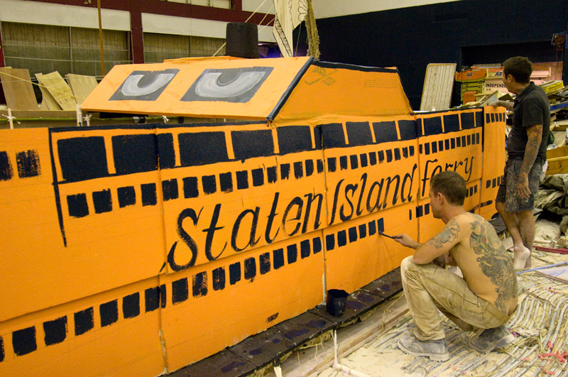 The Staten Island Ferry was made from ceiling tiles like the Coliseum.