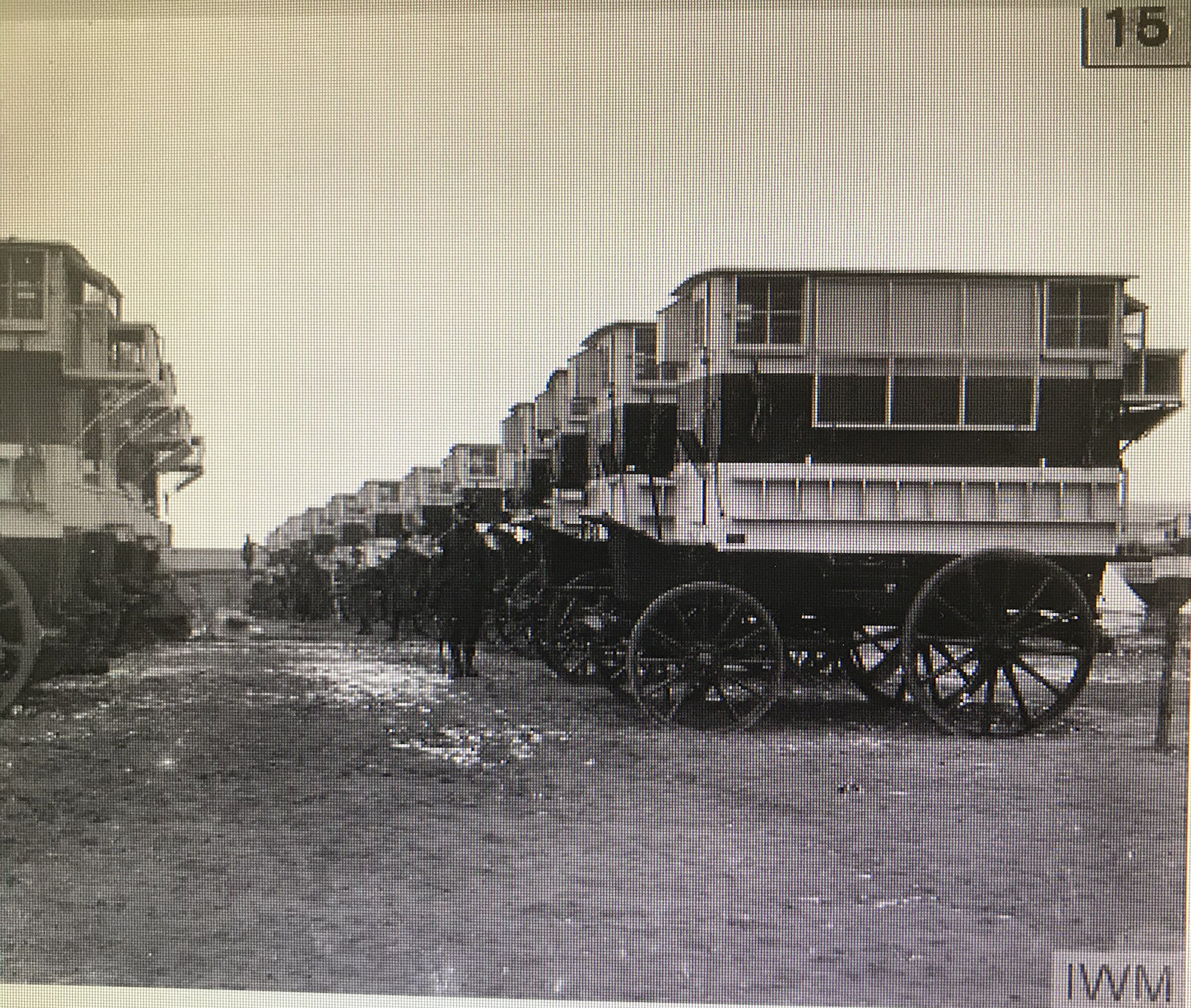 WWI Mobile Pigeon Coops photos from Imperial War Museum.