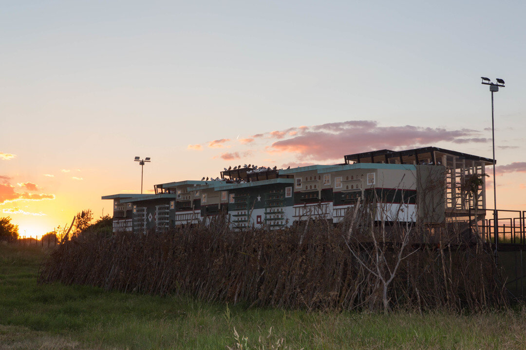 Sunset over the River Thames at the Abandoned Thamesmere Golf Centre. Photo by Will Star