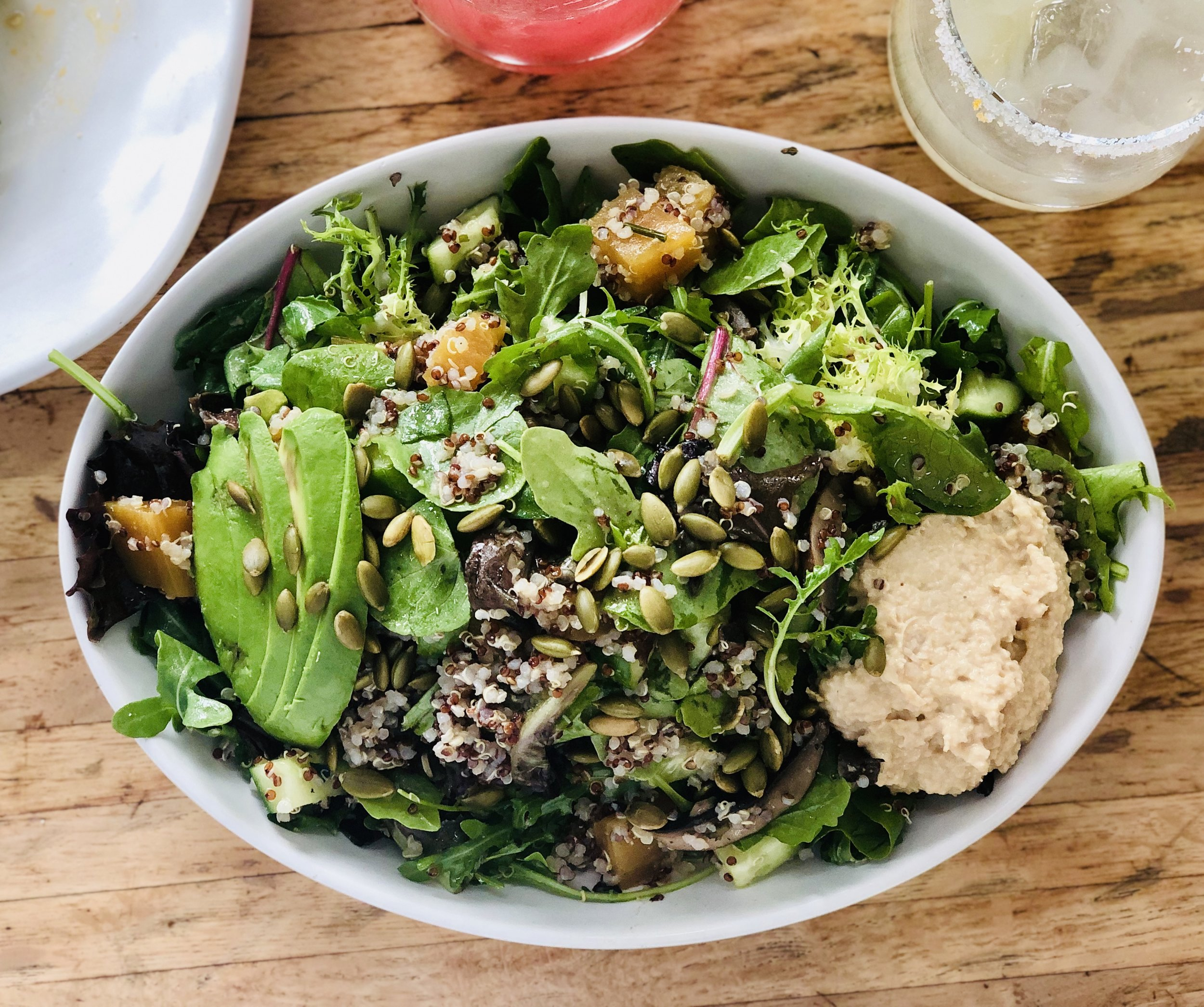 golden beet- quinoa and hummus salad.jpg